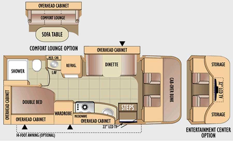 Jayco Precept class C motorhome floorplans - large picture