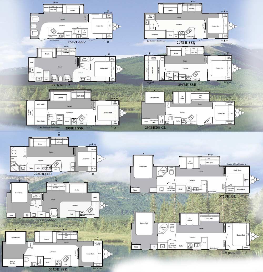 Keystone Springdale Travel Trailer Floorplans