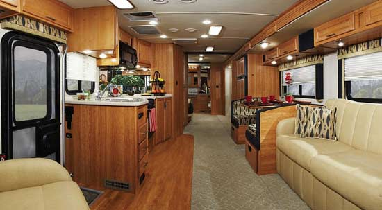 Fleetwood Southwind class A motorhome interior - model 36D shown