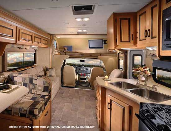 Forest River Sunseeker class C motorhome - interior model 3100SS