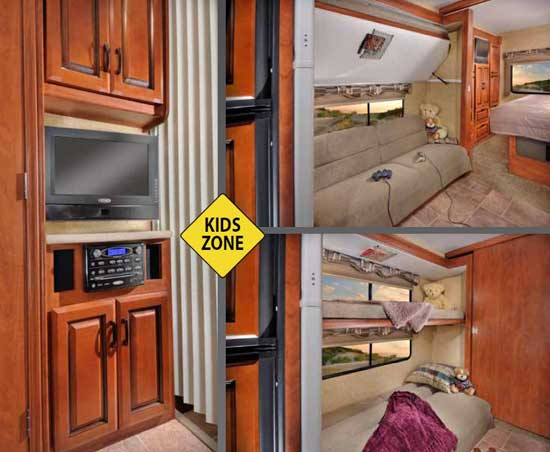 Forest River Sunseeker class C motorhome - kids zone - model 3170DS