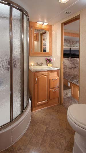 Forest River Sunseeker class C motorhome bathroom