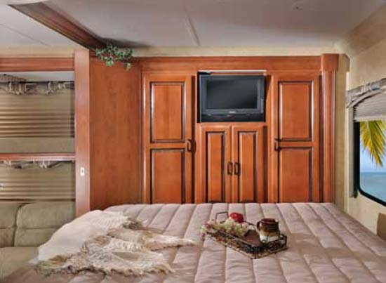 Forest River Sunseeker class C motorhome bedroom