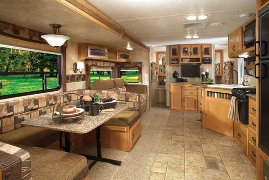 Prime Time LaCrosse Travel Trailer Interior 272 RBS