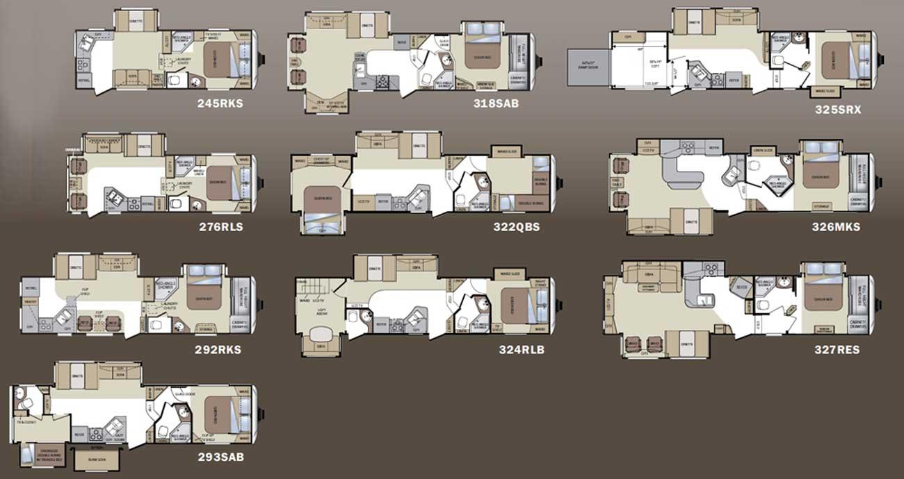 Keystone Cougar Fifth Wheel Floorplans Floorplans Large