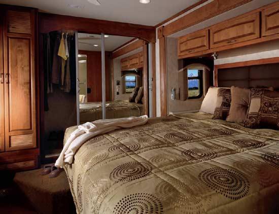2011 Monaco Cayman luxury motorhome bedroom