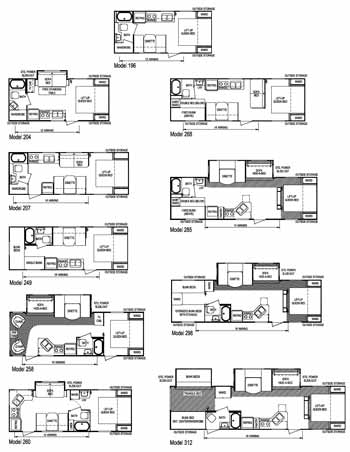 Aljo Trailers Floor Plans Travel Trailer