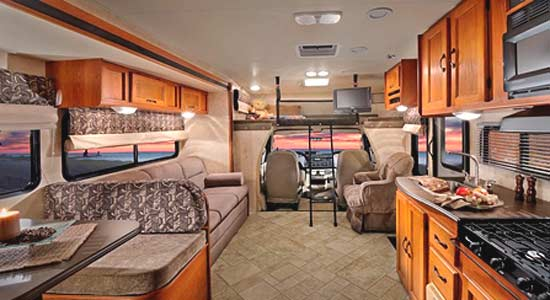 2011 Coachmen Freelander class C motorhome interior