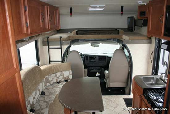 2011 Coachmen Freelander class C motorhome interior - 21QB, American RV