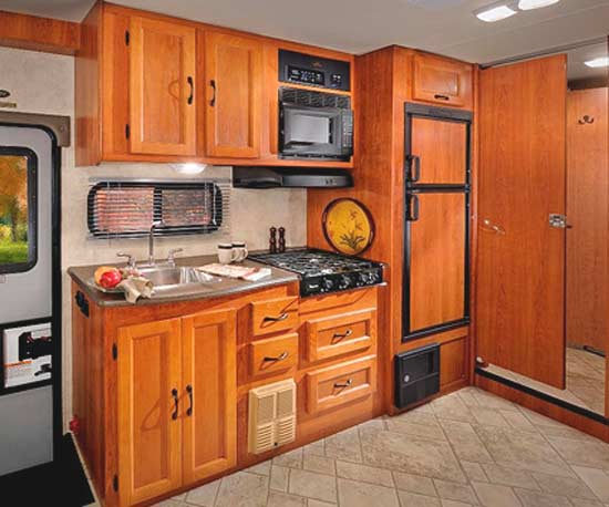 2011 Coachmen Freelander class C motorhome interior - kitchen