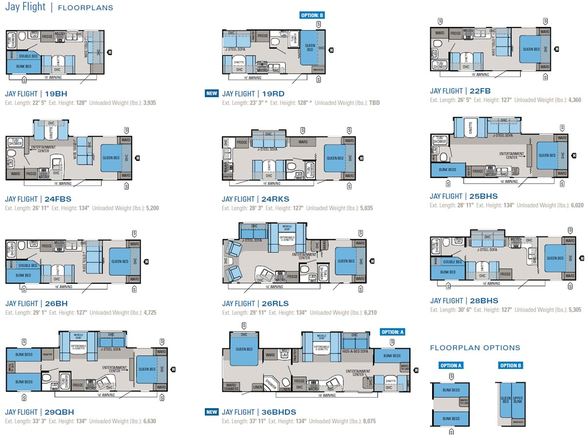 Travel Trailer Layouts