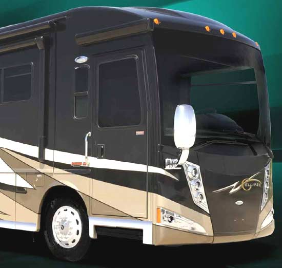 2011 Itasca Ellipse diesel class A motorhome - exterior - front