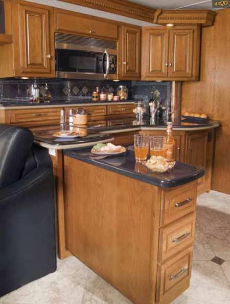 2011 Itasca Ellipse diesel class A motorhome kitchen