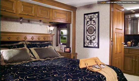 2011 Itasca Ellipse diesel class A motorhome bedroom