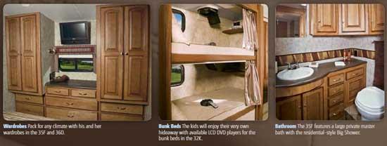 Winnebago Vista class A motorhome interior - other features