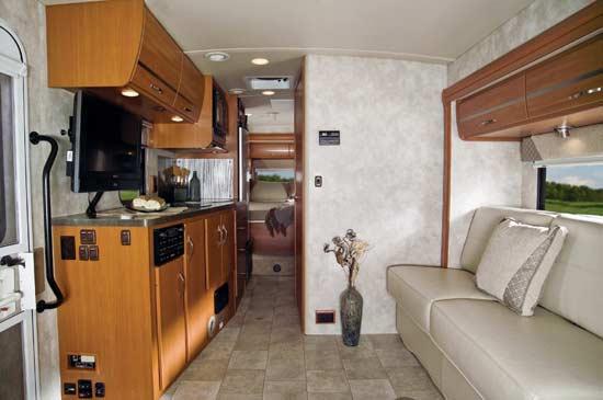 Winnebago View class C motorhome 2011 - interior - Profile looking to rear