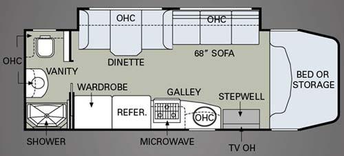 2009 Holiday Rambler Traveler floorplan