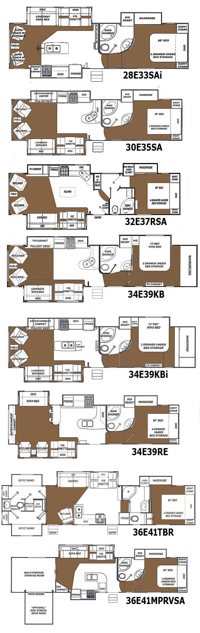 Glendale Titanium Fifth Wheel Floorplans Large Picture