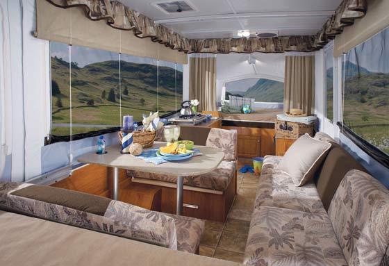 Jayco Jay Series camping trailer interior