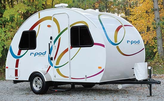 R-Pod ultra lite travel trailer exterior