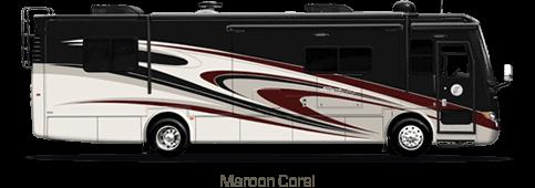 Maroon Coral Motorhome