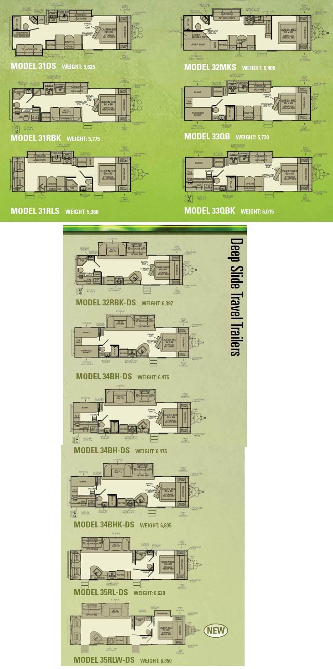 Evergreen Rv Floor Plans Evergreen Travel Trailer Floor Plans Gurus Floor