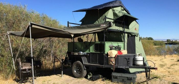 UGOAT Full Open Towing Camper Travel Trailer