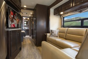 2017 Thor Hurricane 35M Living Room