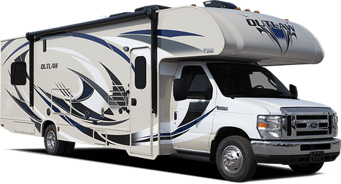 2017 outlaw class c toy hauler roaming times for Class a rv with car garage