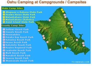 Oahu Camping Campsites