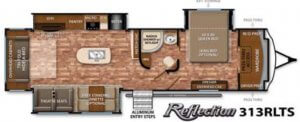 Reflection 313RLTS Floor Plan