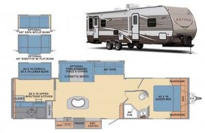 Revere 33BH Exterior and Floor Plan