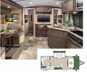 Surveyor 243RBS Interior and Floor Plan