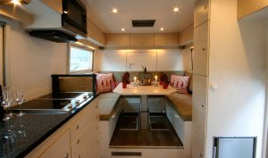 Action Mobil Globecruiser 7500 Dining And Kitchen