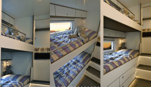 Action Mobil Interior Bunkbeds