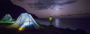 Camping At Night Starry Skies