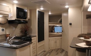 Winnebago 2017 Minnie 2500FL Galley Toward Bedroom