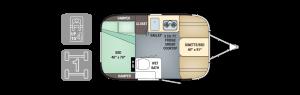 2017 Airstream Sport 16RB Floorplan