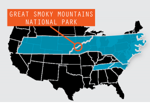 Great Smokey Nation Park Map