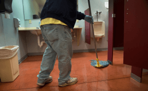 Restroom Cleaning As Marks Job