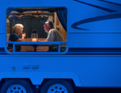 Older couple in RV