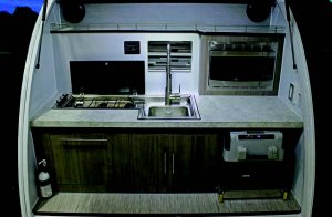 InTech Luna Teardrop Trailer Kitchen