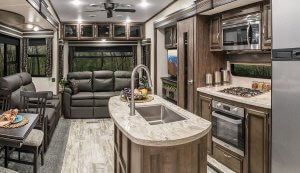 2019 KZ RV Durango D333RLT Fifth Wheel Living Room