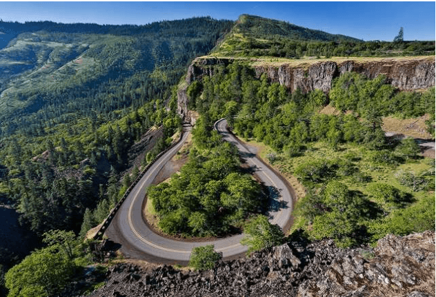 Driving Portland Columbia River Scenic Highway
