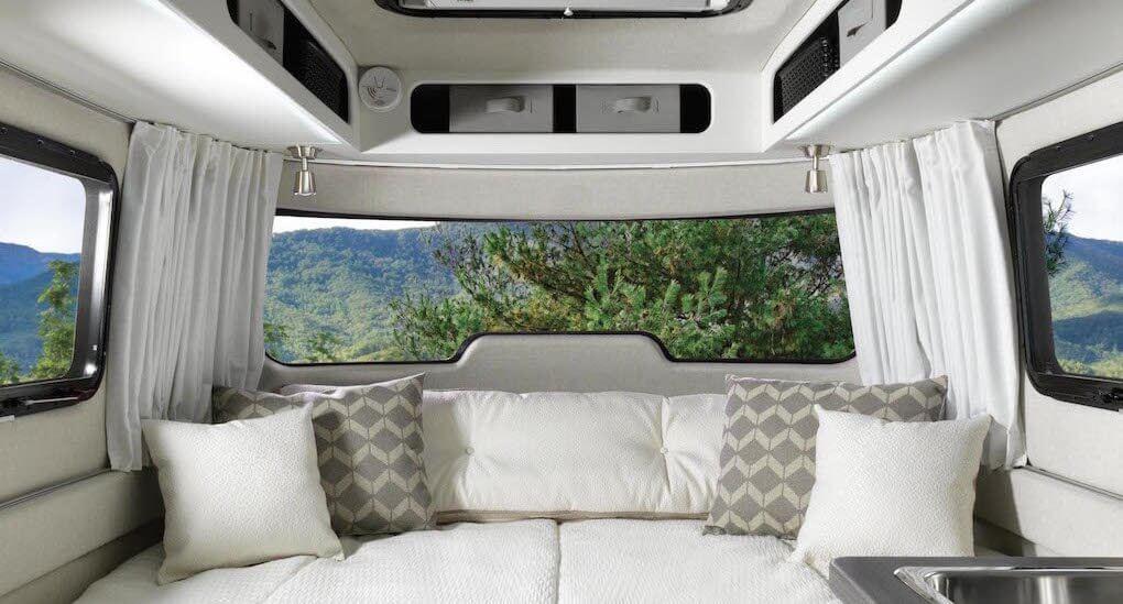 Nest Trailer by Airstream Interior Panoramic view