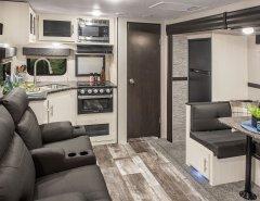 Kitchen inside 2019 Stratus Travel Trailer