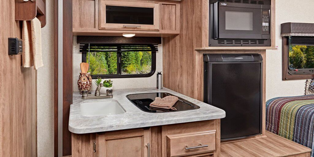 Cozy Kitchen - Hummingbird Travel Trailer