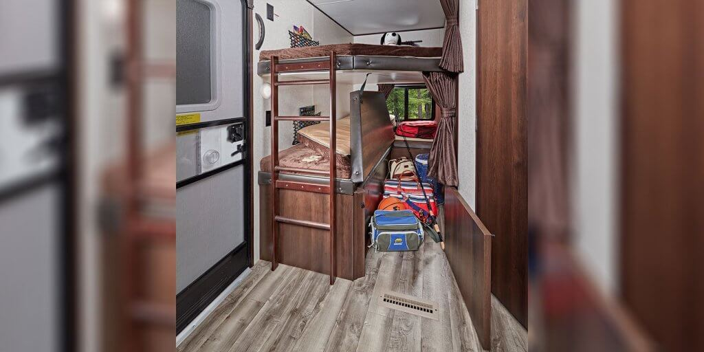 Bunk Beds in JayFlight RV by Jayco
