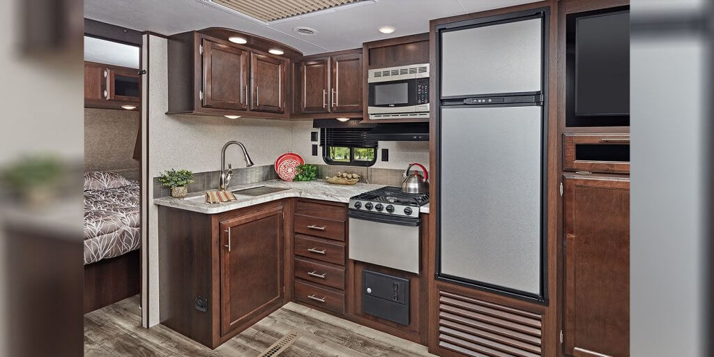 RV Travel Trailer Kitchen