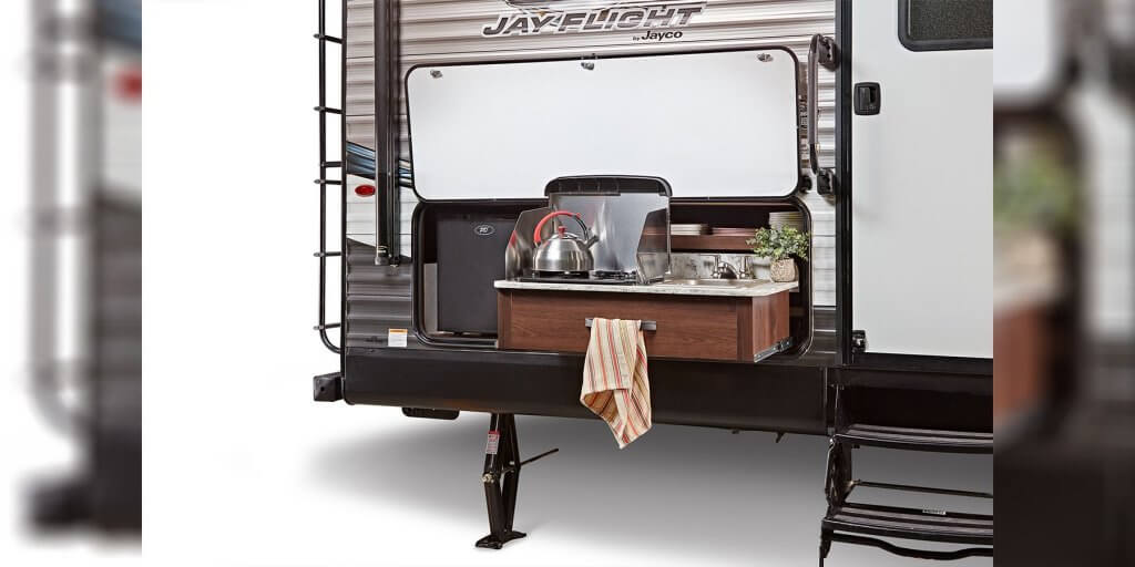 RV Travel Trailer Outdoor Kitchen